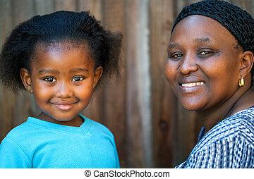 わずかしか, mother., 女の子, アフリカ