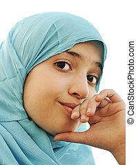 わずかしか, muslim, 女の子