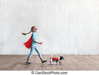 わずかしか, superhero, 犬
