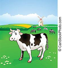 を過ぎて, 牛