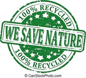 を除けば, 私達, 自然, リサイクルされる