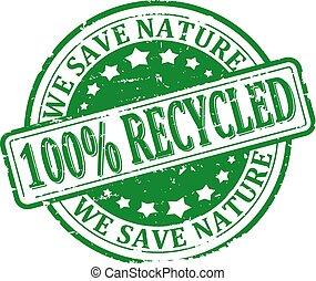 を除けば, 私達, 100%, リサイクルされる, 自然