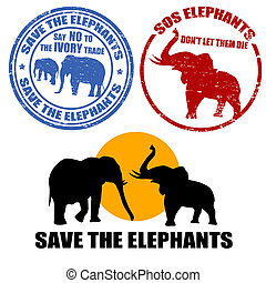 を除けば, ∥, 象, スタンプ