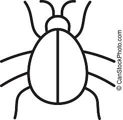 アイコン, かぶと虫, 線である