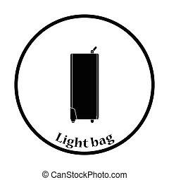 アイコン, の, 撮影所写真, ライト, 袋