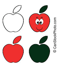 アイコン, りんご