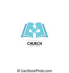 アイコン, イラスト, ベクトル, 教会, テンプレート, ロゴ