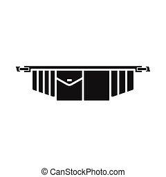 アイコン, イラスト, 道具, 網, toolbag, stock., ベクトル, 要素, 印。, ベルト