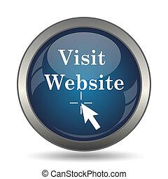 アイコン, ウェブサイト, 訪問