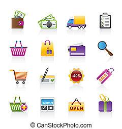 アイコン, ウェブサイト, 買い物