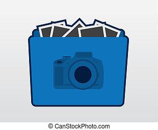 アイコン, カメラ, フォルダー