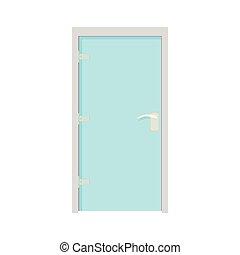 アイコン, ガラス, スタイル, ドア, 漫画