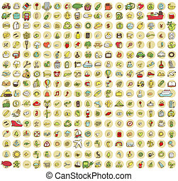 アイコン, コレクション, 289, doodled, あらゆる, no.2, 時, xxl