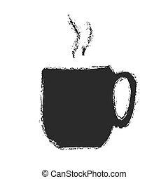 アイコン, コーヒー, ベクトル, カップ