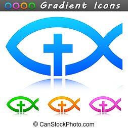アイコン, シンボル, デザイン, キリスト教徒, ベクトル