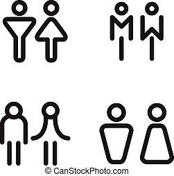 アイコン, シンボル, pictogram, イラスト, ベクトル, 人間