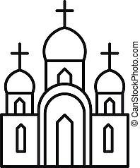 アイコン, スタイル, キリスト教徒, アウトライン, 教会