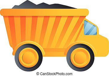 アイコン, スタイル, トラック, 漫画, ゴミ捨て場