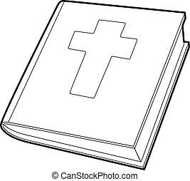 アイコン, スタイル, 聖書, アウトライン