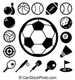 アイコン, スポーツ, set.