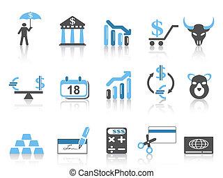 アイコン, セット, 金融, ビジネス