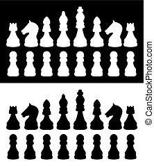 アイコン, チェス, ベクトル