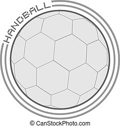 アイコン, デザイン, ハンドボール