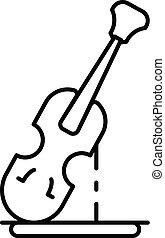 アイコン, バイオリン, スタイル, アウトライン, 像
