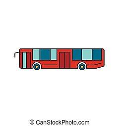アイコン, バス, スタイル, 観光客, 漫画
