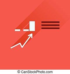アイコン, ビジネス, 長い間, infographics, 影, 平ら