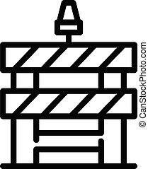 アイコン, ブロック, スタイル, 障壁, 道, アウトライン