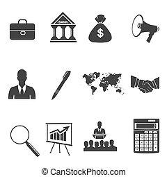 アイコン, ベクトル, セット, ビジネス