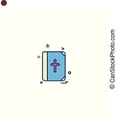 アイコン, ベクトル, デザイン, 聖書