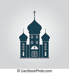 アイコン, ベクトル, 教会