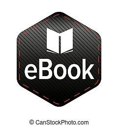 アイコン, ベクトル, ebook, 印