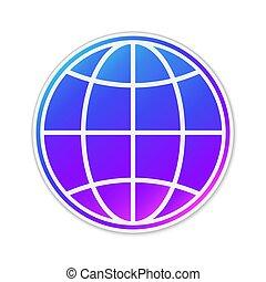 アイコン, ベクトル, isolated., 地球の 地球