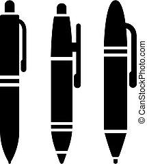 アイコン, ペン, セット, ベクトル