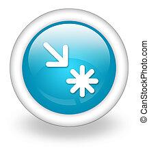 アイコン, ポイント, 興味, ボタン, pictogram