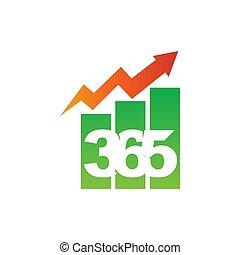 アイコン, ロゴ, デザイン, 無限点, イラストビジネス, バー, 365, ベクトル