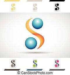 アイコン, ロゴ, s, 手紙, 形