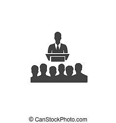 アイコン, 会議, ベクトル, ビジネス