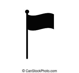 アイコン, 例証された, 背景, ベクトル, 旗, 白