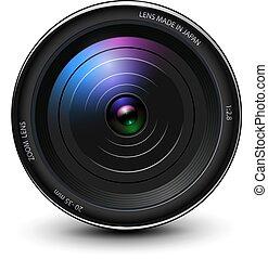 アイコン, 写真, レンズ, 3d, カメラ