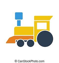 アイコン, 列車, おもちゃ