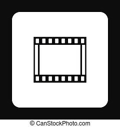 アイコン, 単純である, スタイル, フィルムの ストリップ