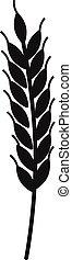 アイコン, 単純である, スタイル, 小麦