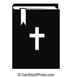 アイコン, 単純である, スタイル, 聖書