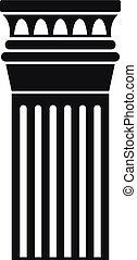 アイコン, 単純である, 柱, 古代, スタイル
