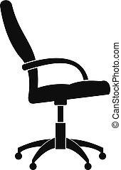アイコン, 単純である, 車椅子, style.