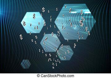 アイコン, 合成の イメージ, 通貨